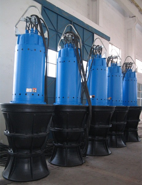 Submersible Axial or Mixed-Flow Pump